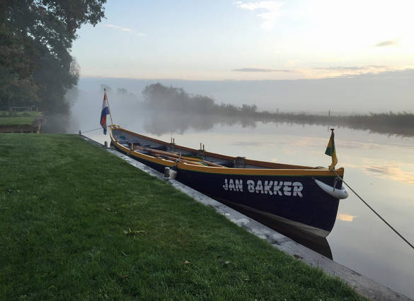 Jan bakker in drentse mist